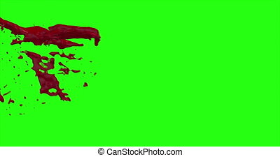 Blood Burst Motion Blur (Green Screen) 51 - Nice and real...