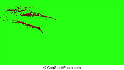 4k Blood Burst Motion Blur (Green Screen) 45 - Nice and real...
