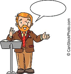 Funny university lecturer or teacher - Childrens vector...