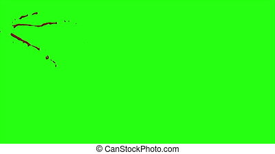 Blood Burst Motion Blur (Green Screen) 21 - Nice and real...