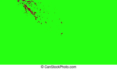 Hd Blood Burst Motion Blur (Green Screen) 79 - High quality...