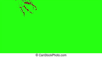 4k Blood Burst Motion Blur (Green Screen) 80 - Nice and real...