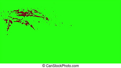 Blood Burst Motion Blur (Green Screen) 33 - Nice and real 4K...