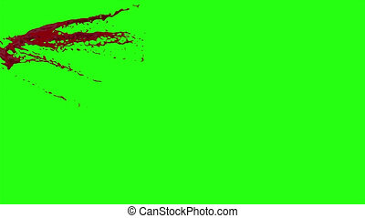 Hd Blood Burst Motion Blur (Green Screen) 4 - High quality...