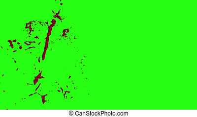 Hd Blood Burst Motion Blur (Green Screen) 151 - High quality...