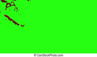 Hd Blood Burst Motion Blur (Green Screen) 73 - High quality...