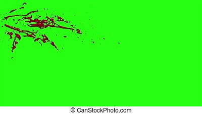 Blood Burst Motion Blur (Green Screen) 34 - Nice and real 4K...