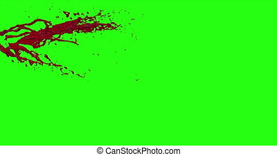 4k Blood Burst Motion Blur (Green Screen) 49 - Nice and real...