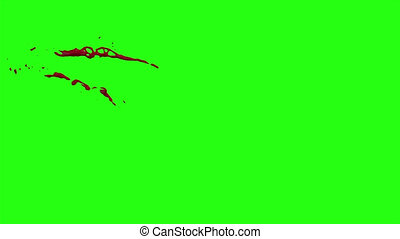 Hd Blood Burst Motion Blur (Green Screen) 25 - High quality...