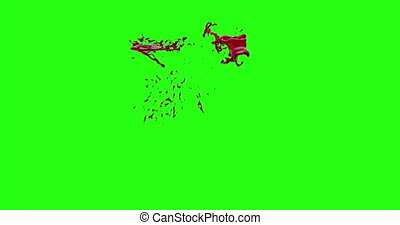 Blood Burst Motion Blur (Green Screen) 120 - Nice and real...
