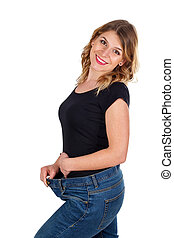 I love my new waistline - Picture of a beautiful woman being...