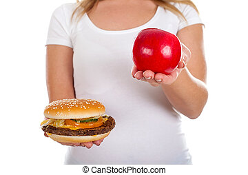 Healty food - Close up picture of a delicious hamburger in a...