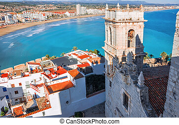 View of the sea from a height of Pope Luna's Castle....