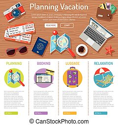 Planning Vacation infographics - Planning Vacation and...