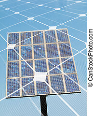 Solar energy concept - Photovoltaic panel  montage