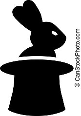 Magician Rabbit in Hat