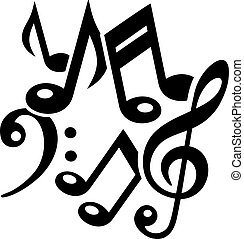 Music notes chaos