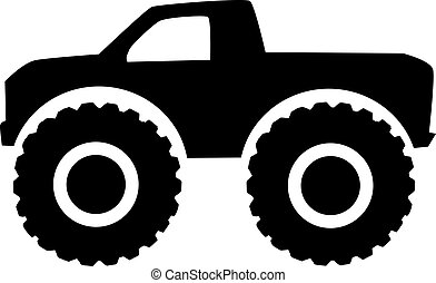 vector clip art of monster truck icon front view tractor clip art black and white tractor clip art pictures