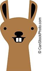 Funny lama head with teeth