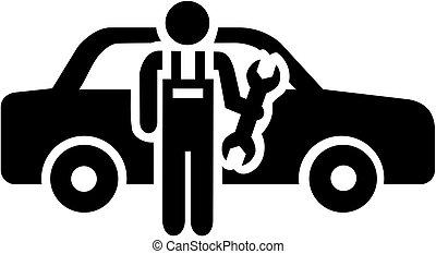 Motor mechanic icon