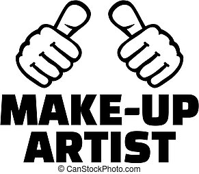 Make-up artist with thumbs