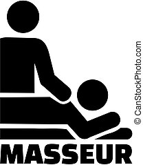 Masseur with icon
