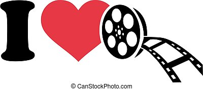 I love cinema with film roll