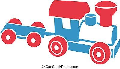 Model railway train toy