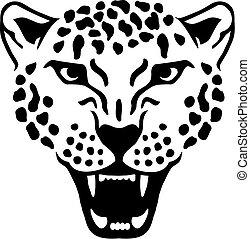 Angry leopard gepard head