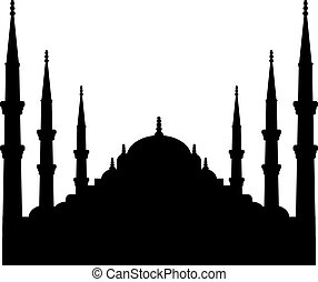 Sultan Ahmed Mosque silhouette istanbul