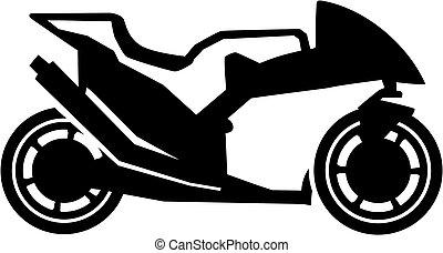 Sporty motorbike