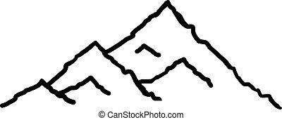 Mountains abstract hand drawn