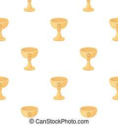 Wine cup icon in cartoon style isolated on white background....