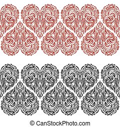 Seamless Pattern, Valentine Hearts