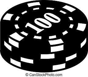Gambling Chips with number 100