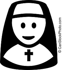 Nun Symbol Pictogram