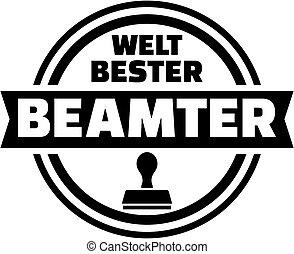 World's best official german button