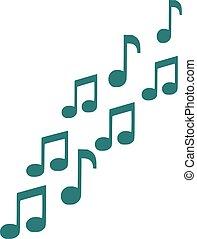 Music notes symbol