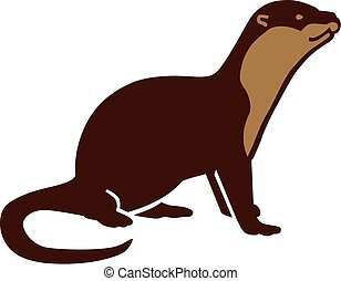 Otter cartoon