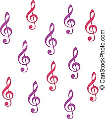 Music clef background