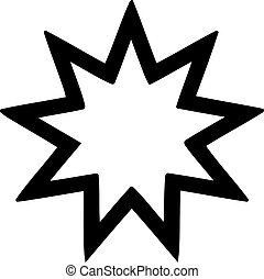 Nine-pointed star Baha'i faith