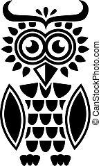 Ethno pattern Owl