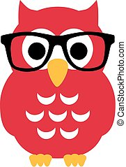 Nerd Owl with glasses