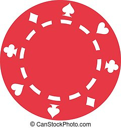 Red Poker gambling chip