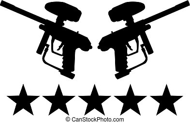 Paintball guns with five stars