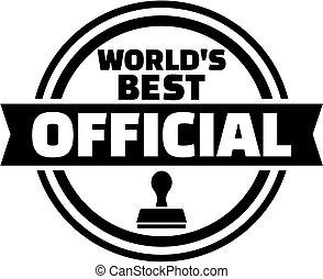 World's best official button