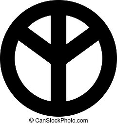 Peace sign upside down