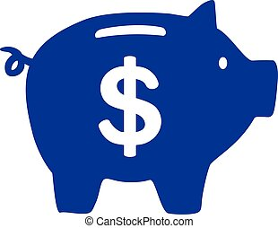 Piggy Bank with dollar sign