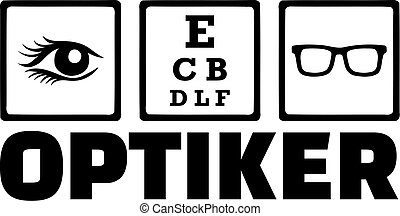 Optician Icons Eye Optiker