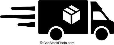Delivery van for parcel